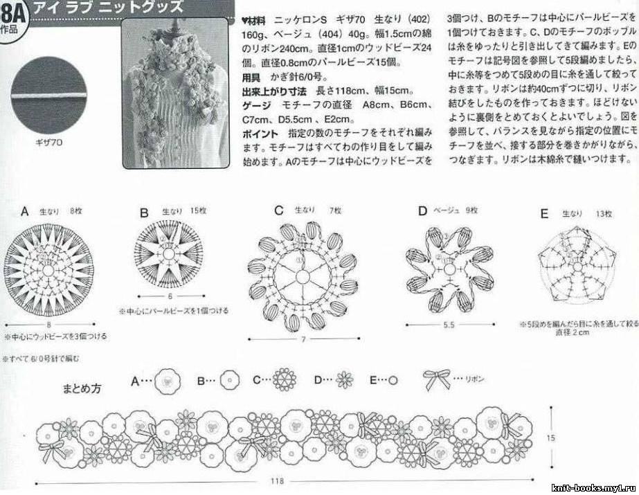 Схемы вязания оригинальных шарфов 67